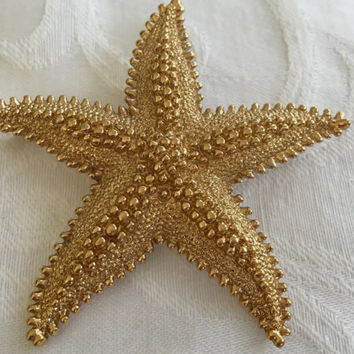 Vintage Monet Starfish Brooch Beach Seashore Jewelry