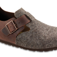 London Cocoa Habana Wool/oiled Leather Shoes | Birkenstock USA Official Site