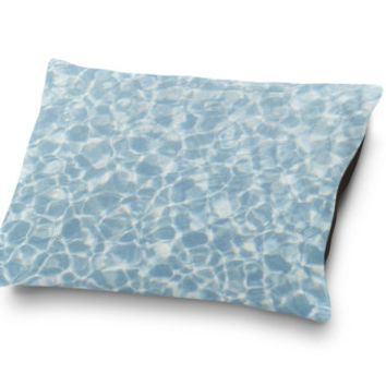 Blue Crystal Waters - Pet Bed, Nautical Home Decor Style Bedding, Cat & Dog Beach Surf Pet Bedding Pillow Bed Accent. In Small Medium Large