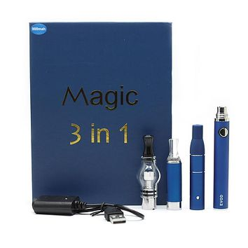 Magic 3 in 1 Vape Kit (Dry, Liquid & Concentrate)