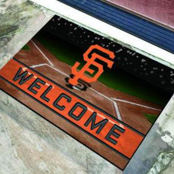 San Francisco Giants Door Mat 18x30 Welcome Crumb Rubber