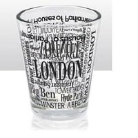 London Names Shot Glass