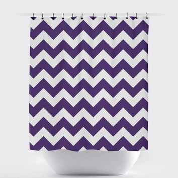 Purple Chevron Shower Curtain