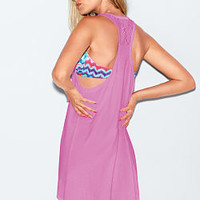 Lace Racerback Dress - PINK - Victoria's Secret