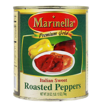 Italian Sweet Roasted Peppers by Marinella 28 oz