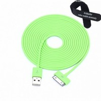 Colorful 30pin USB Data Sync and Charge Cable Compatible with Iphone 4/4s, Iphone 3g/3gs, Ipod (Green,10ft Long):Amazon:Cell Phones & Accessories