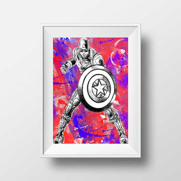 Superhero Art, Superhero print, Superhero wall decor, kids wall art prints Superhero wall art decor