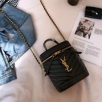 YSL wave pattern women's chain bag bucket bag shoulder bag crossbody bag