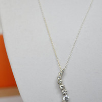 Crystal Pendant, Sterling Silver Pendant, Pendant Necklace, Silver Necklace, Crystal Necklace, Sterling Silver Chain, Silver Pendant,Pendant