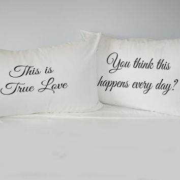 The Princess Bride Pillowcase Set, gift for couples, pillow cases