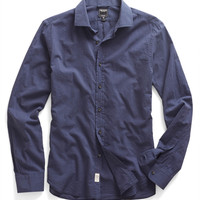 Poplin Shirt in Blue Mélange