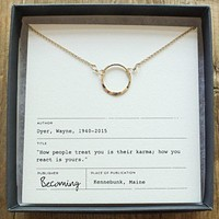 Karma Necklace Gold-Fill