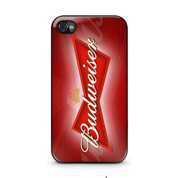 budweiser iphone 4 4s case cover  number 1