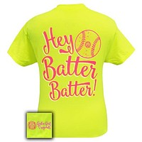 Girlie Girl Originals Preppy Softball Hey Batter Sports Bright T Shirt
