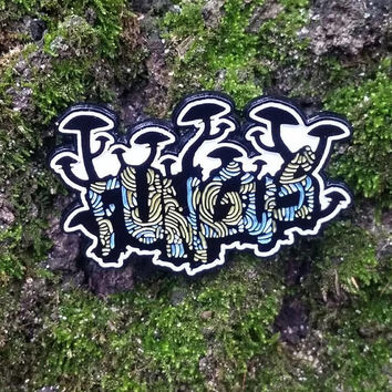 Fungus Mushroom Hat Pin *GLOWS*LIMITEDEDITION* Heady Hat Pins by : Eccentric Visuals