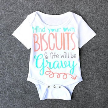Newborn Baby Girl Letter Pattern Rompers Outfits Summer Casual Clothing Outwear