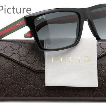 DCCK GUCCI Stylish Women Men Stripe Summer Sun Shades Eyeglasses Glasses Sunglasses I