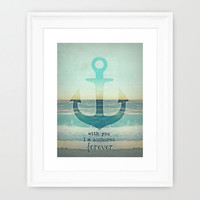 *** VINTAGE ANCHOR ***  Framed Art Print by M✿nika  Strigel