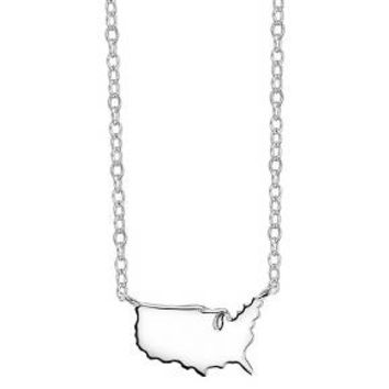 Footnotes State Pendant - Silver