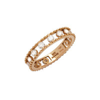 Staurino Fratelli 18k Rose Gold Allegra Diamond Happy Band Ring
