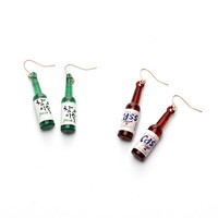 2017 Fashion Korean Ladies Accessory Bottle Earrings [10681944015]