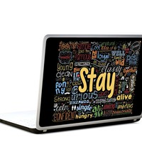 Stay Motivating Words Collage Quote Vinyl Laptop Skin Decal