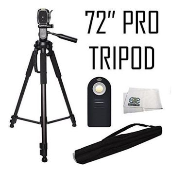 Professional 72-inch Tripod 3-way Panhead Tilt Motion with Built In Bubble Leveling + Wireless IR Remote Control Shutter Release for Canon EOS 70D, 60D, 7D, 7D Mark II, SL1, T6s, T6i, T5i, T4i, T3i, T - Walmart.com