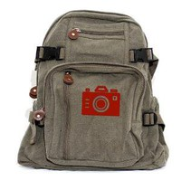 Red Iconic Camera Small Backpack by mediumcontrol on Etsy