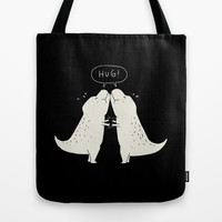 Hug Tote Bag by Ilovedoodle