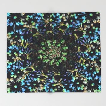 Black Russian Pattern Throw Blanket by Deluxephotos