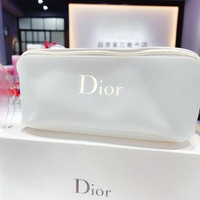 Dior New fashion letter print cosmetic bag storage bag White