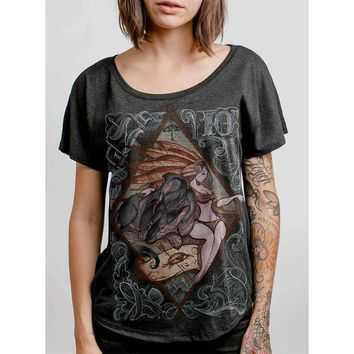 Lady And The Wolf Womens Dolman Top