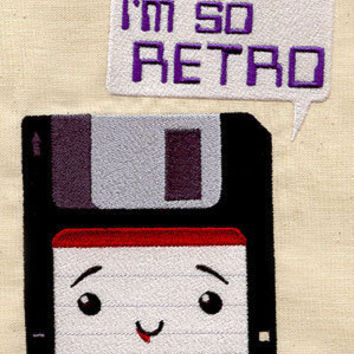 Retro Nerd Baby Bib by MorningTempest on Etsy