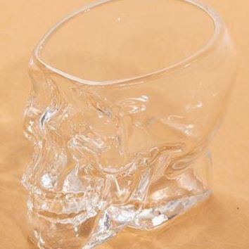 Skull Cup Mini Creative Crystal Transparent Glass FREE SHIPPING !!!