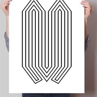 Abstract Lines Print