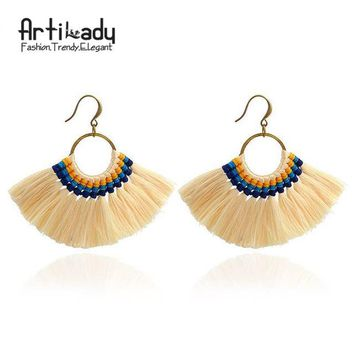 Handmade long earring colorful drop earring for women