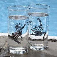 Swimmers Drinking Glasses