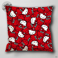 hello kitty scrubs pattern Pillow Case, Chusion Cover ( 1 or 2 Side Print With Size 16, 18, 20, 26, 30, 36 inch )