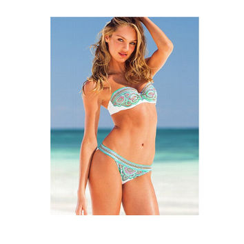 Sexy Hot New Arrival Beach Summer Swimsuit Floral Women's Fashion Swimwear Bikini [6048404161]