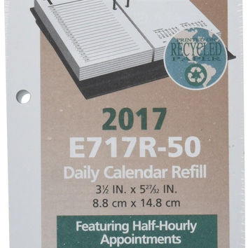"AT-A-GLANCE Daily Desk Calendar 2017 Refill January - December 3-1/2 x 6"" (E7..."