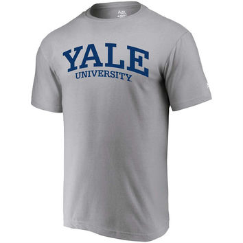 Yale Bulldogs Alta Gracia (Fair Trade) Arched Wordmark T-Shirt - Heathered Gray