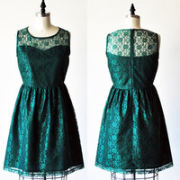PROVENCE Emerald CUSTOM FIT  Emerald green lace dress by mfandj