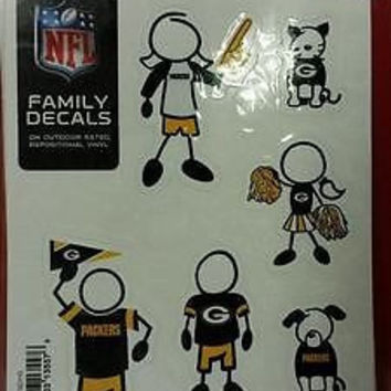 "NFL Green Bay Packers Family Decal Small  5"" X 7"""