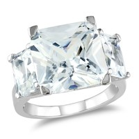 15 Carat Cubic Zirconia Fashion Ring in Sterling Silver