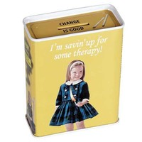 Savin Up For Therapy Tin Bank - Whimsical & Unique Gift Ideas for the Coolest Gift Givers