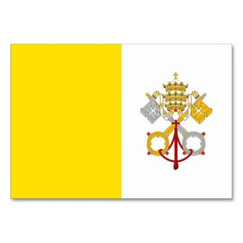 Patriotic table card with Flag of Vatican