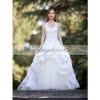 catch-up gown wedding dress
