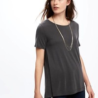 Sand-Washed Jersey Swing Tee for Women | Old Navy