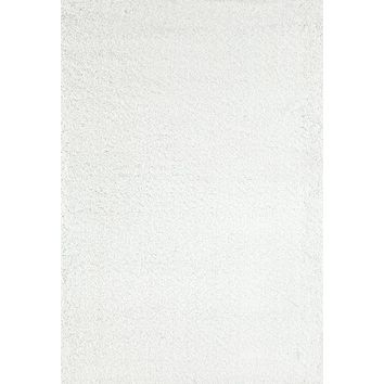 8087 White Shag Area Rugs