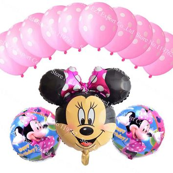 Hot sale Minnie Mickey Mouse theme party decoration Combination suit balloons Happy birthday party decoration Dot balloon